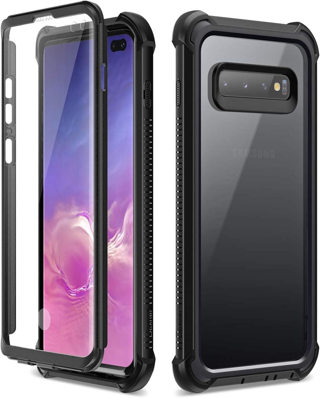 Dexnor Funda Samsung Galaxy S10 Plus, Carcasa con Parachoques de Silicona de 360 Grados, [A Prueba de Golpes] [Ligero] Panel Posterior Transparente, Protector de Pantalla Incorporado: Amazon.es: Electrónica