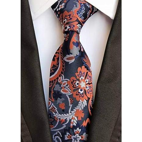 WOXHY Corbata Nuevo Diseño Paisley Negro Púrpura Jacquard Tejido ...