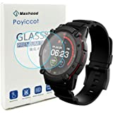 Poyiccot for PowerWatch 2 Screen Protector, 2Pack 0.3mm Ultra-Thin 9H Hardness Anti-Fingerprint Tempered Glass Screen…