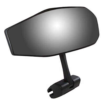 CIPA 01609 Black Vision 180 Degree Marine Mirror with Deluxe Cast Aluminum Cup Mounting Bracket: Automotive