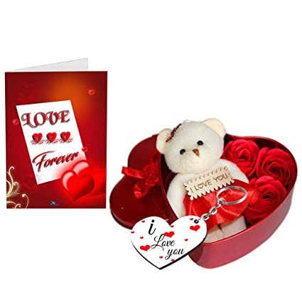 Sky Trends Teddy Bear With ValentineS Special Greeting Card Red St 0015