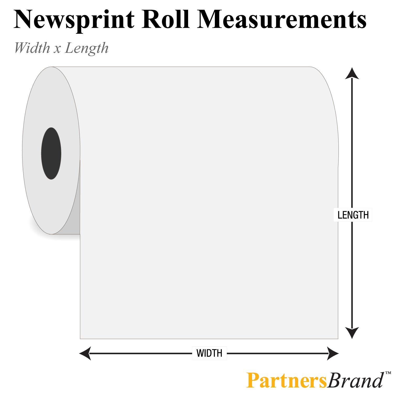 440 White Partners Brand PNP1890 Newsprint Roll 18 x 1 30#