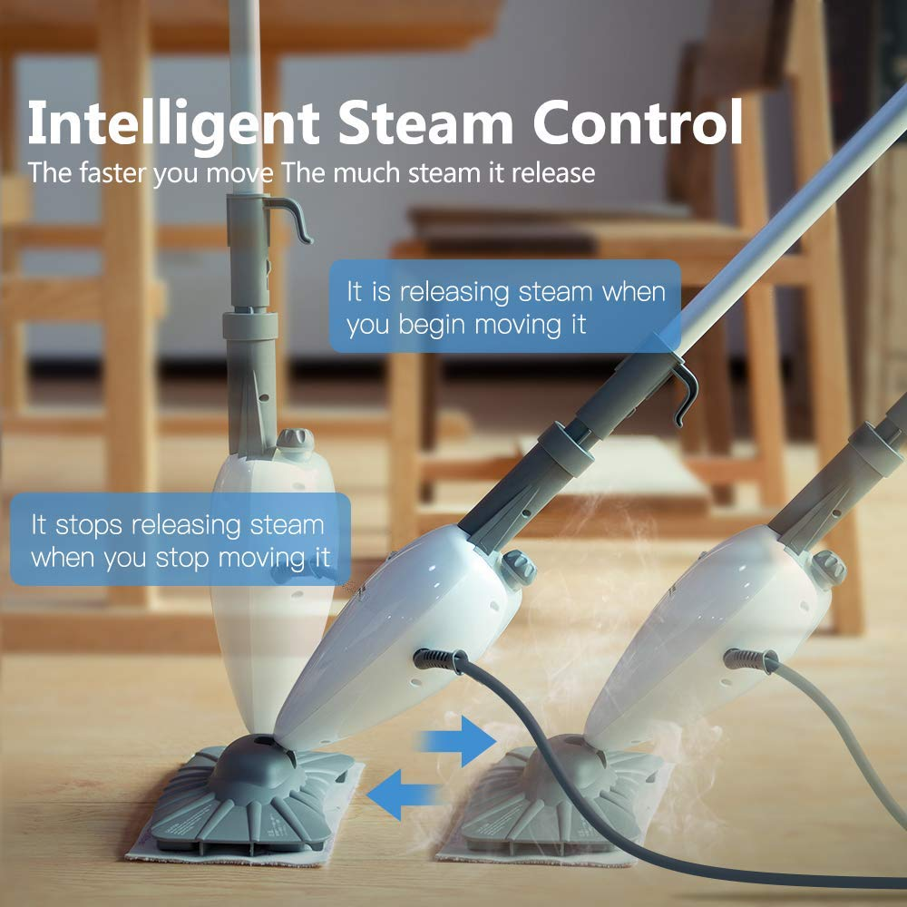 Simpli-Magic 79153 5 in 1 Steam Mop Floor Steamer - Ideal for Cleaning Tile Grout Laminate Hardwood and Carpets, Professional Use by Simpli-Magic (Image #4)