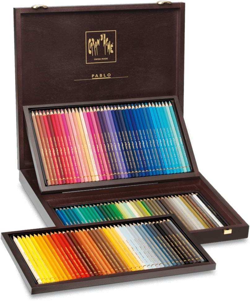120 color set Caran d'Ache Pablo 0666-920 wooden box (japan import)