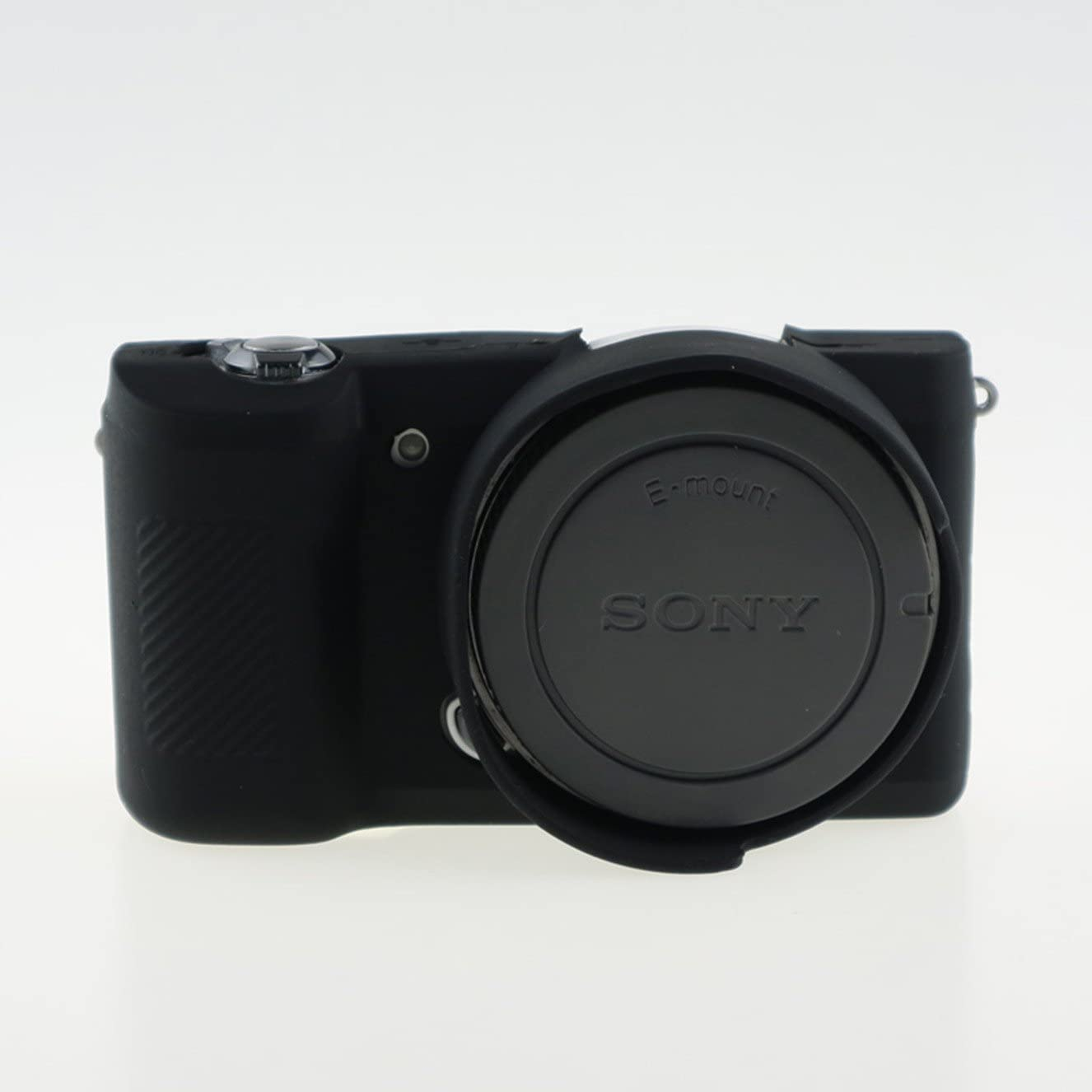 Anti-Scratch Silicon Protective Cover Case Skin for Sony A5000 A5100 Black