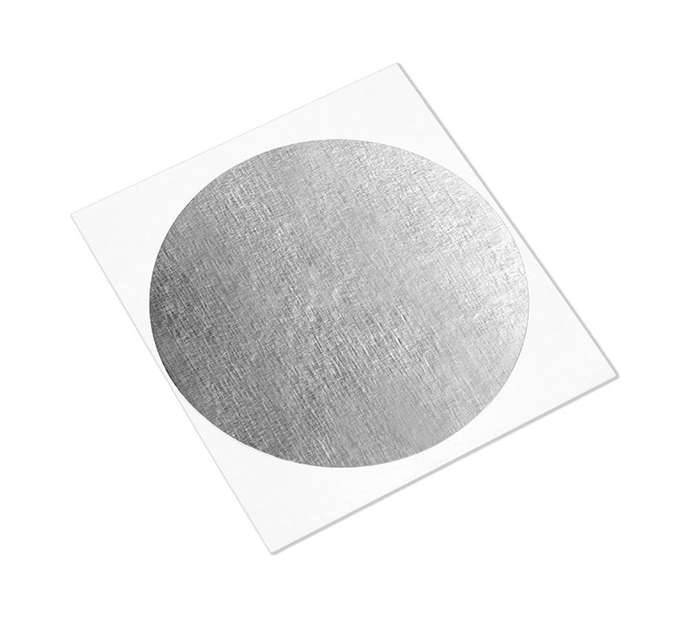 2 Diameter Circles Pack of 100 3M 1170 Silver Aluminum Foil Tape with Conductive Acrylic Adhesive Pack of 100 2 Diameter Circles 3M 1170 CIRCLE-2-100