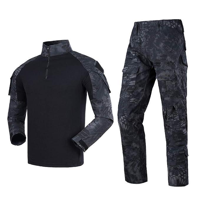 Amazon.com: Juego de camisa táctica y pantalones de combate ...