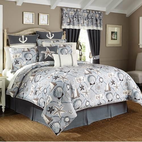 Croscill Yachtsman Coastal Print 4-Piece Comforter Set -