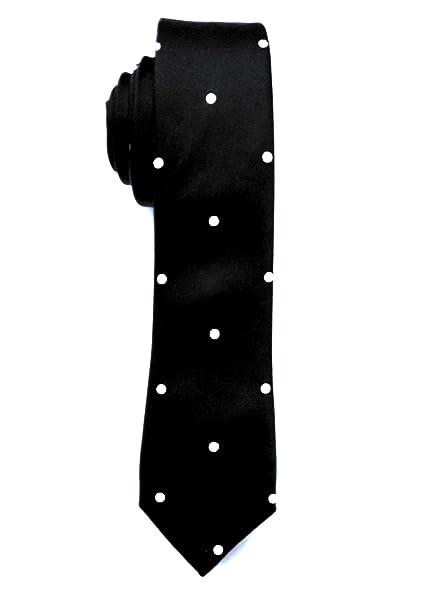 5ba10bd2e5 Blacksmith Black Polka Dot Tie for Men - Black Tie for Men - Black Formal  Tie