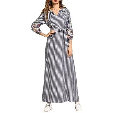 Zhhlaixing Abaya Modest Lange Maxi Tunika Kleid Kleider Formale ...