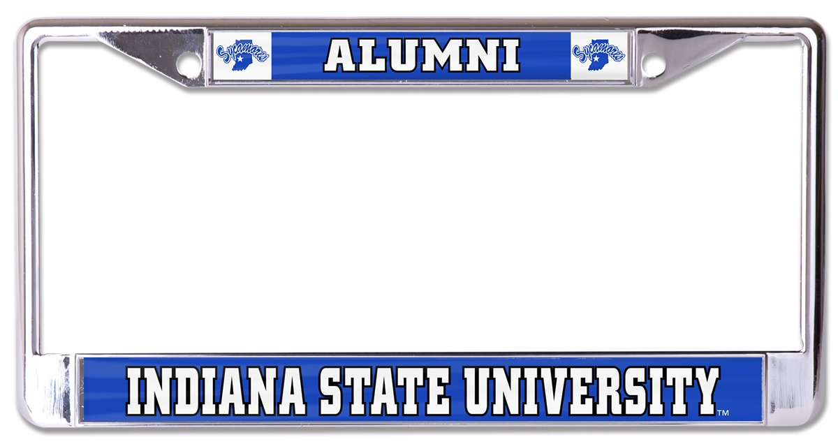 WinCraft Indiana State University L329568 License Plate Frame Glossy