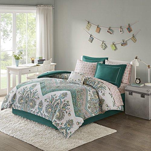 9 Piece Girls, Gorgeous Elegant Motif Floral Pattern Comfort