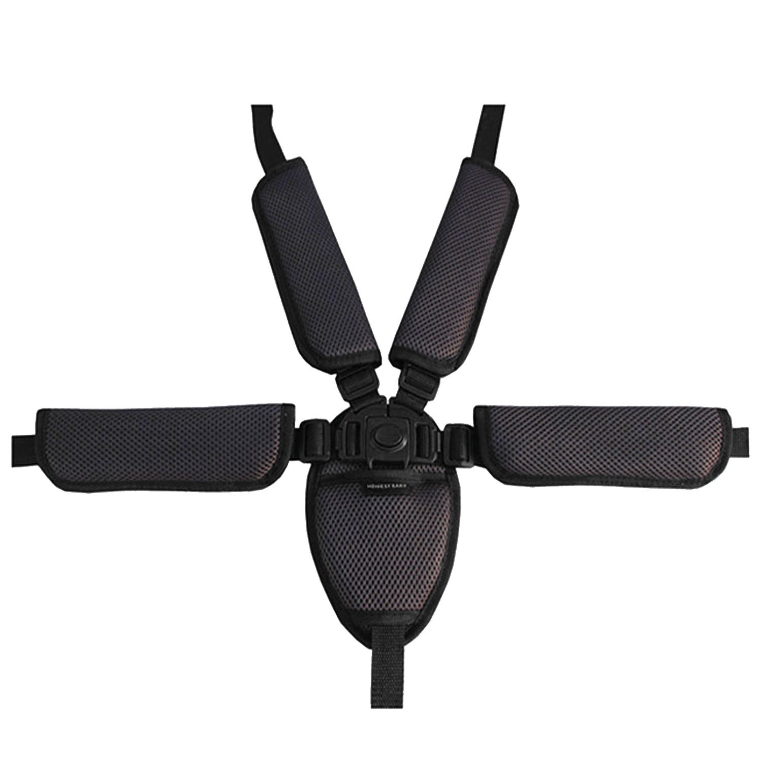 Universal Baby Kid 5 Point Safety Seat Harness Belt Strap for Stroller High Chair Pram Buggy Kid Pushchair Coffee Gosear