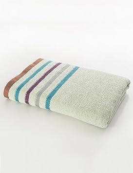Toalla de Playa Suave Grande Absorbente 38 * 138cm de los Pares del algodón de Las Toallas Suaves Grandes del algodón (3 Colores Opcionales) (Color : 1): ...