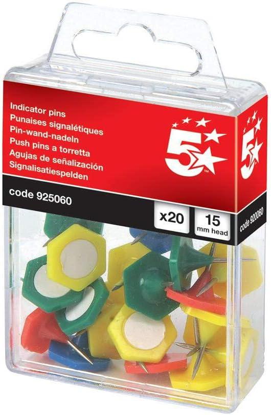 5 Star Markiernadeln 15 Mm Kopf 20 Stück Farblich Sortiert Bürobedarf Schreibwaren