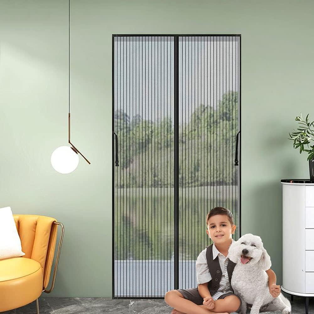 Mosquitera puerta magnetica,120 x 240cm Adsorción Magnética Plegable Anti Mosquito Mosquitera, para Puertas de Salón Balcón Corredor