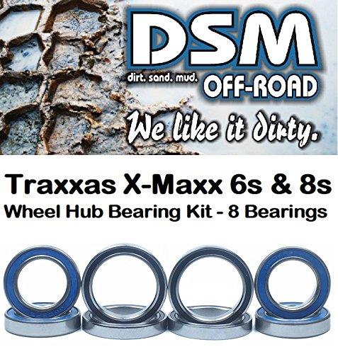 Traxxas X-MAXX 6s & 8s Wheel Hub Axle Carrier Bearing Kit Set (8 Bearings)