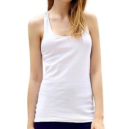 fe1af95fb97de Amazon.com  CreazyDog Women Summer Lace Vest Top Short Sleeve Blouse ...
