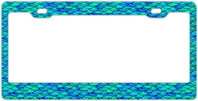2 Holes Auto Car License Plate Cover Holder for US Standard Aluminum Metal License Tag Frame License Plate Frame