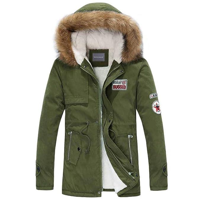 Amazon.com: Henoo - Chaqueta de invierno con capucha para ...