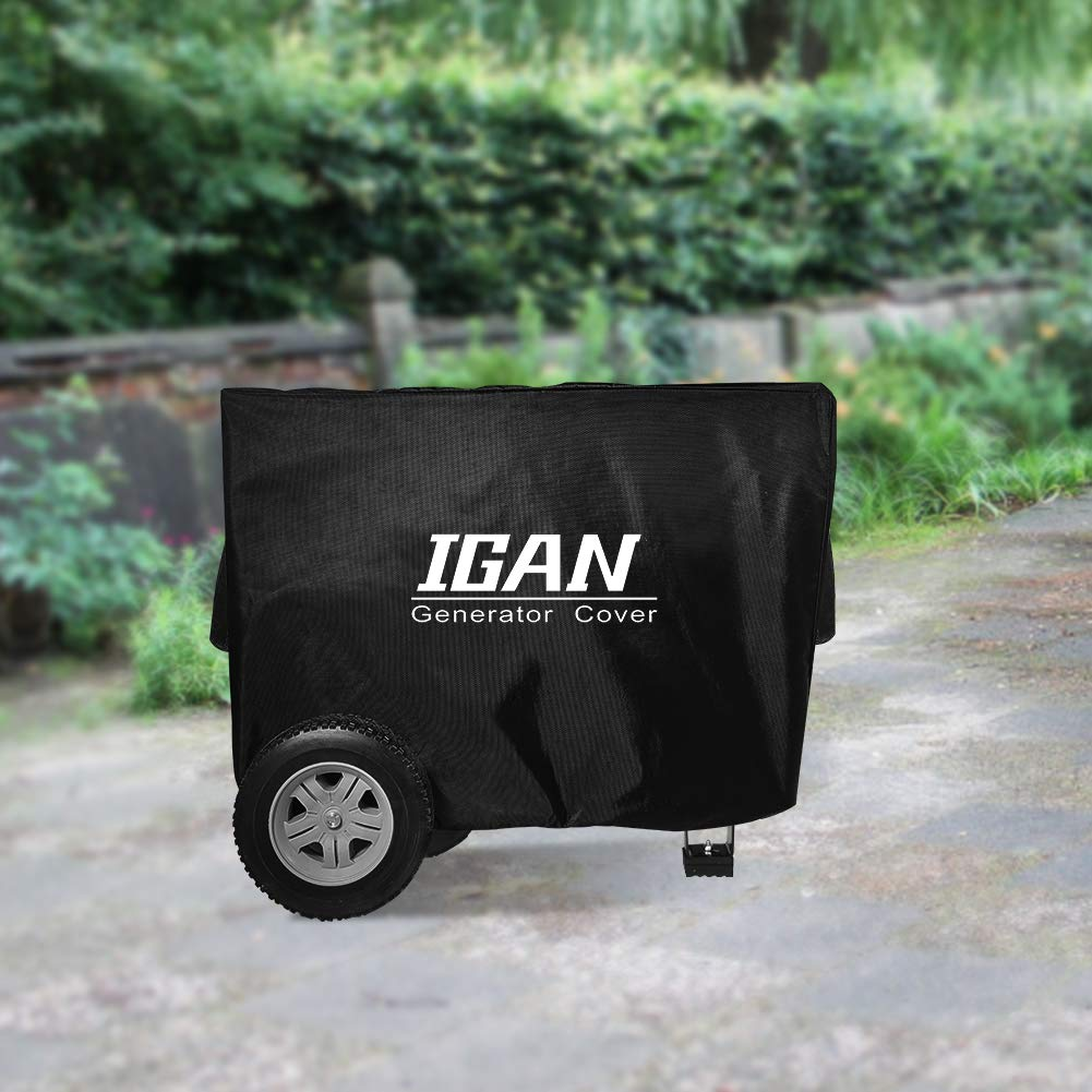 IGAN Premium Waterproof Generator Cover, Heavy Duty 1680D Marine Grade Polyester   Universal Fit   31 x 24 x 23 inch   UV & Mold Protection   Compatible with Most 4000w-12000w Portable Generators by IGAN (Image #7)