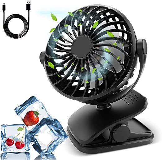 Ventilador con clip, ventilador USB Mini ventilador de escritorio ...