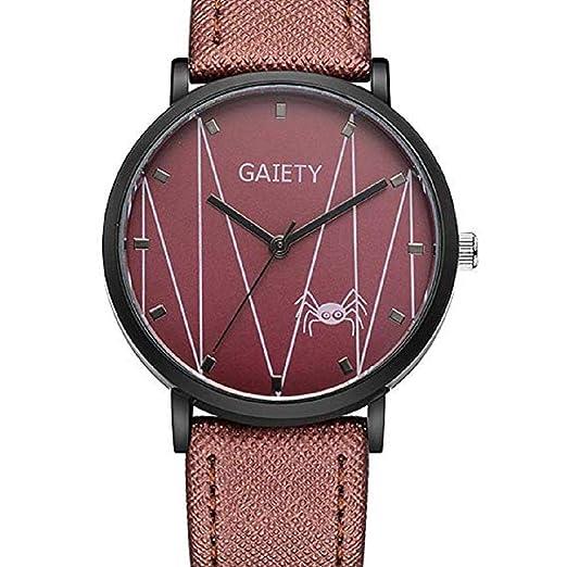 Scpink Relojes con patrón de araña para Mujeres 2c8fa4957bb1