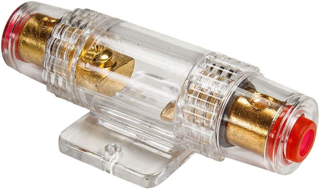 Tomzz Audio 5800 053 Mini Anl Sicherungshalter Transparent Für Kabel Bis 25qmm 2 X 40a Sicherung