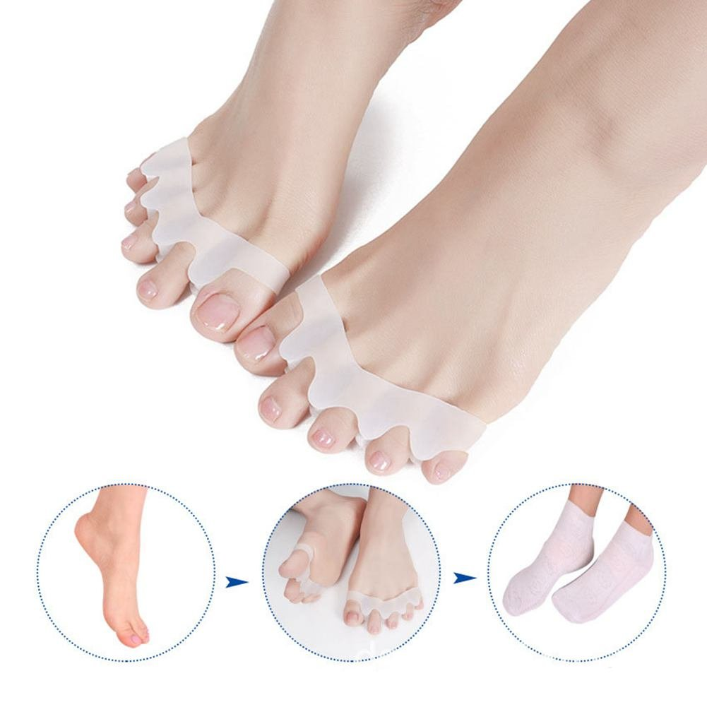 2 Pairs Toe Separators Straighteners Spreader Correctors,Toe Spacers,Unisex Foot Care Tool for Women and Men,Gel Soft Toe Stretchers Protector