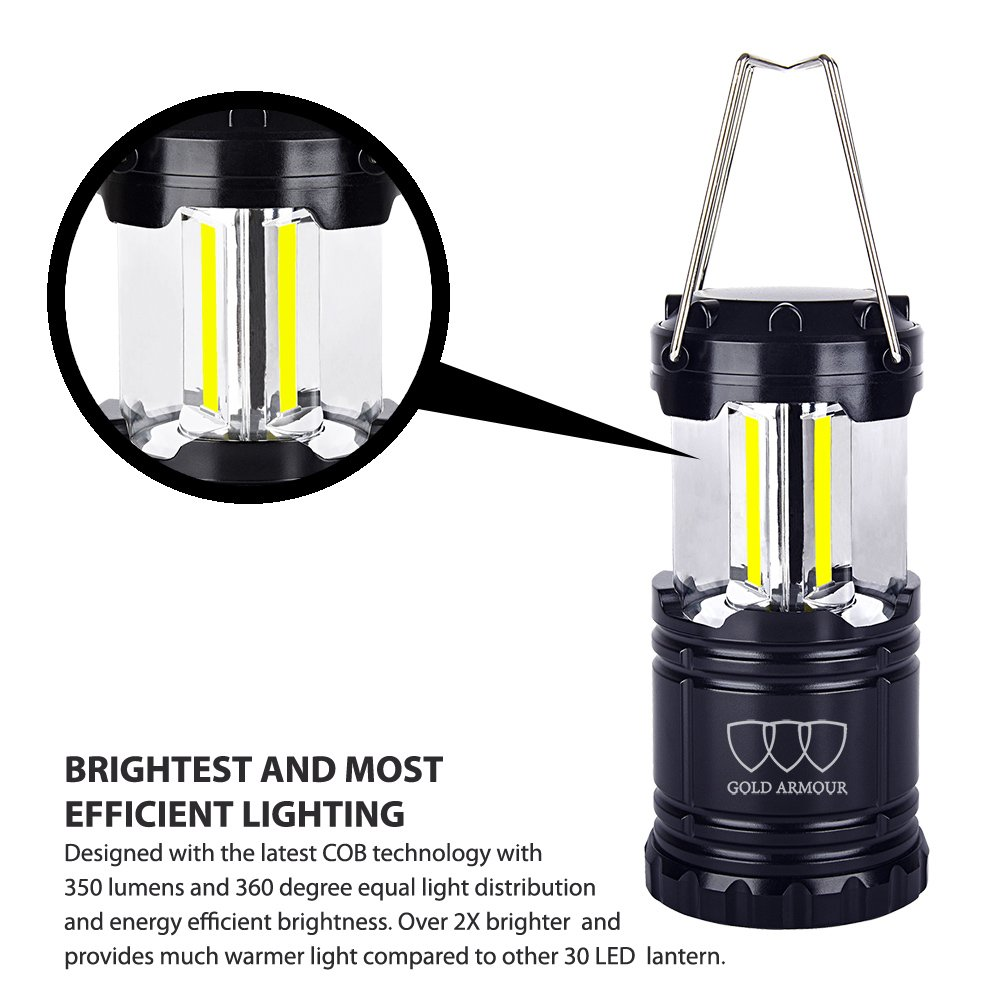 Amazon.com : Gold Armour Brightest Camping Lantern (EMITS 350 LUMENS!) 4  Pack LED Lantern   Camping Equipment Gear Lights For Hiking, Emergencies,  ...