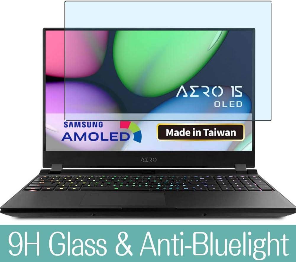 Sukix Anti Blue Light Tempered Glass Screen Protector for GIGABYTE AERO 15 OLED XA//OLED YA 15.6 Visible Area 9H Protective Screen Film Protectors