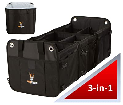 Tuff Viking Convertible Large 3 Compartment SUV Trunk Organizer