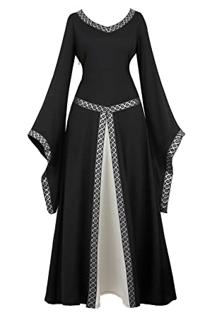 Amazon.com: AOLAIYAOQU Renaissance Irish Medieval Dress for Women ...