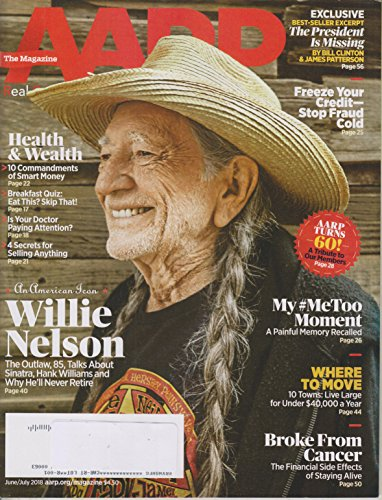 AARP June/July 2018 An American Icon - Willie Nelson for sale  Delivered anywhere in USA