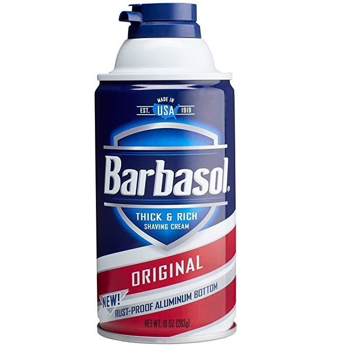 1. Barbasol Original Thick and Rich Cream Men Shaving Cream, 10 Ounce
