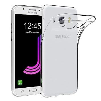 Samsung Galaxy J7 2016/ Galaxy J710 Funda, Frlife Fundas para Samsung Galaxy J7 2016/ Galaxy J710 de Silicona Transparente TPU Cubierta Flexible y ...