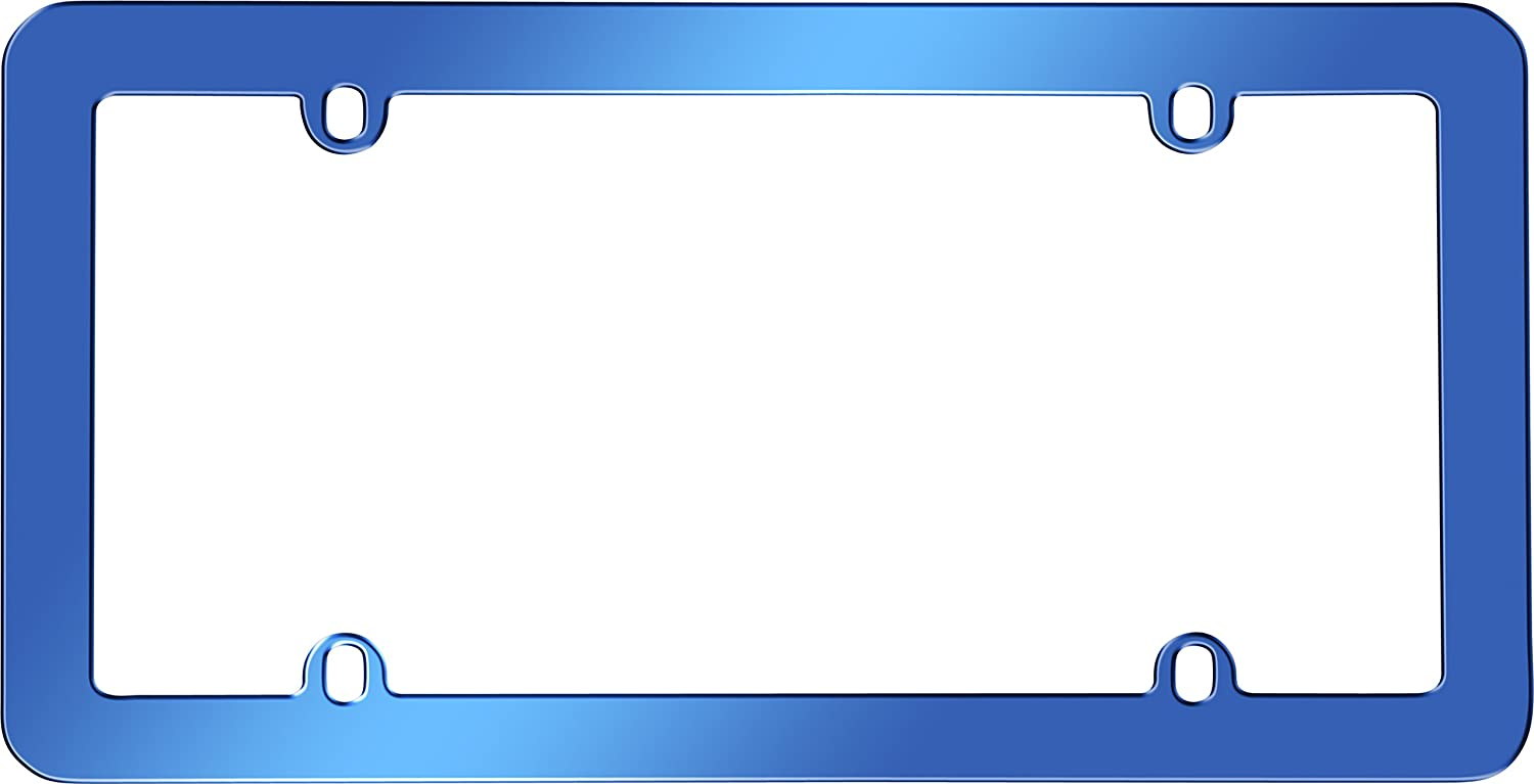 Cruiser Accessories 20800 Anodized License Plate Frame, Blue