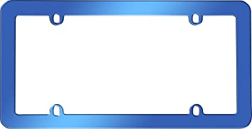 Blue Cruiser Accessories 20800 Anodized License Plate Frame