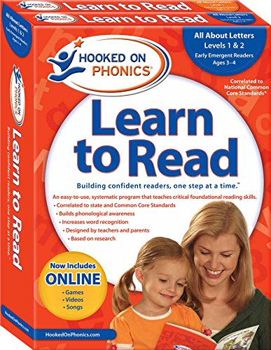 Hooked on Phonics Learn to Read - Levels 1&2 Complete: All About Letters (Early Emergent Readers | Pre-K | Ages 3-4) by Sandvik- Hooked On Phonics