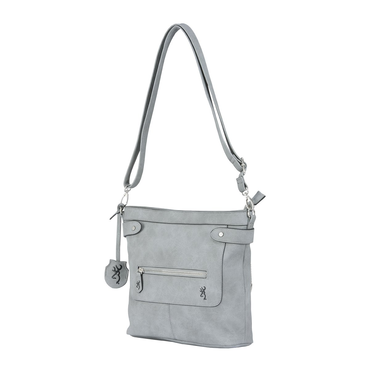 Browning Catrina Concealed Carry Purse, Grey, Faux Leather, Medium