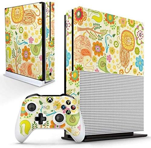 igsticker Xbox One S 専用 スキンシール 正面・天面・底面・コントローラー 全面セット エックスボックス シール 保護 フィルム ステッカー 004287