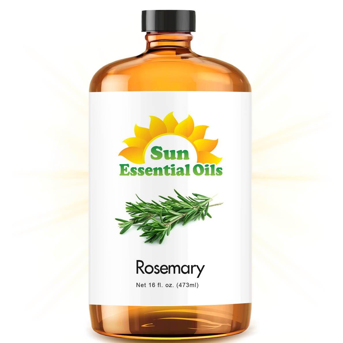 Bulk Rosemary Oil - Ultra 16 Ounce - 100% Pure Essential Oil (Best 16 fl oz / 472ml) - Sun Essential by Sun Essential Oils