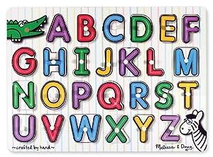 Amazon Com Melissa Amp Doug See Inside Alphabet Peg Puzzle