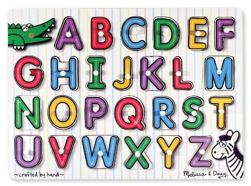 [Melissa & Doug See-Inside Alphabet Peg Puzzle] (Animals That Start With The Letter A)