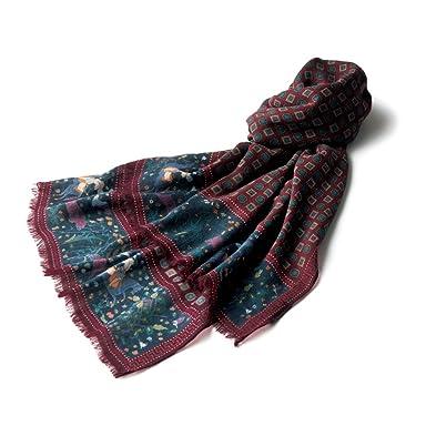 Wool Scarf: Bordeaux