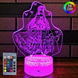 HLLKYYLF Baby Princess Lamp Princess Party Supplies 16 Color Changing Kids Lamp with Touch and Remote Control Princess Toys Light as Gift Idea for Home Decor or Birthday Gifts for Baby (Princess)