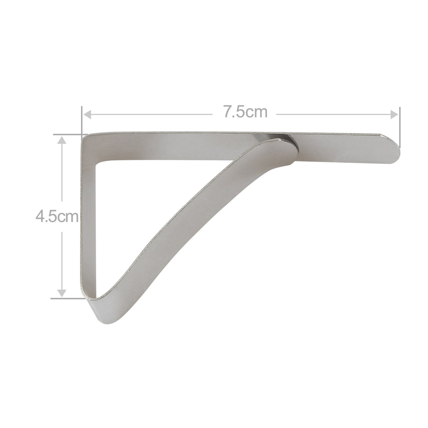 Yblntek 12 Packs Stainless Steel Tablecloth Clip Cover Clamps for Wedding Party Camping (2.95 x 1.77 Inch)