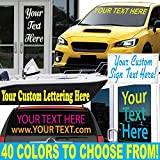 "1060 graphics 5"" High by Up to 32"" Long - Custom Vinyl Lettering - Sold Per Line - Letters Numbers Text Decal for Auto Boat Door Window Sign & More - Text"