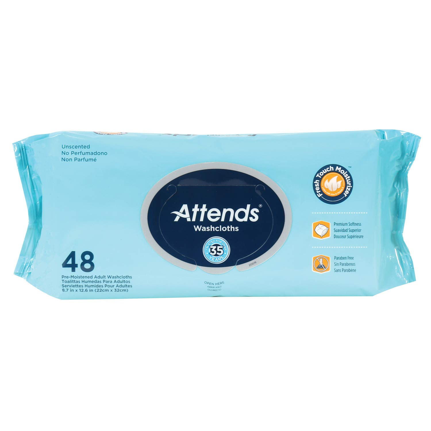 Amazon.com: Attends No-Rinse Alcohol-Free Disposable Bathing Cloth Cleansing Wipes - 48 Count: Health & Personal Care
