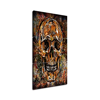 amazon large canvas wall art sugar skull feature painting day